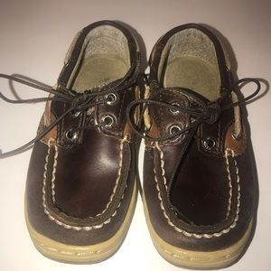 Sperry Top Sider Bluefish Boys Boat Shoes 9 Brown